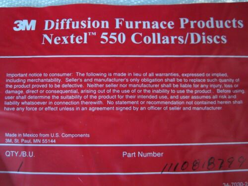 """3M Nextel Diffusion Furnace Thermal Disc 1/"""" Thick New Size 14.5/"""" Diameter"""