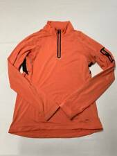Womens REI Peach Half Zip Long Sleeve Stretch Athletic Shirt Sz S
