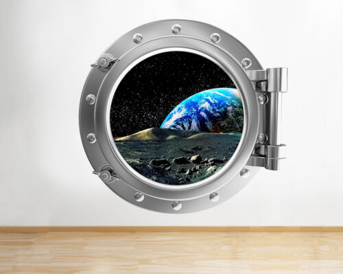 Q186w Space Planets Earth Stars  Window Wall Decal 3D Art Stickers Vinyl Room
