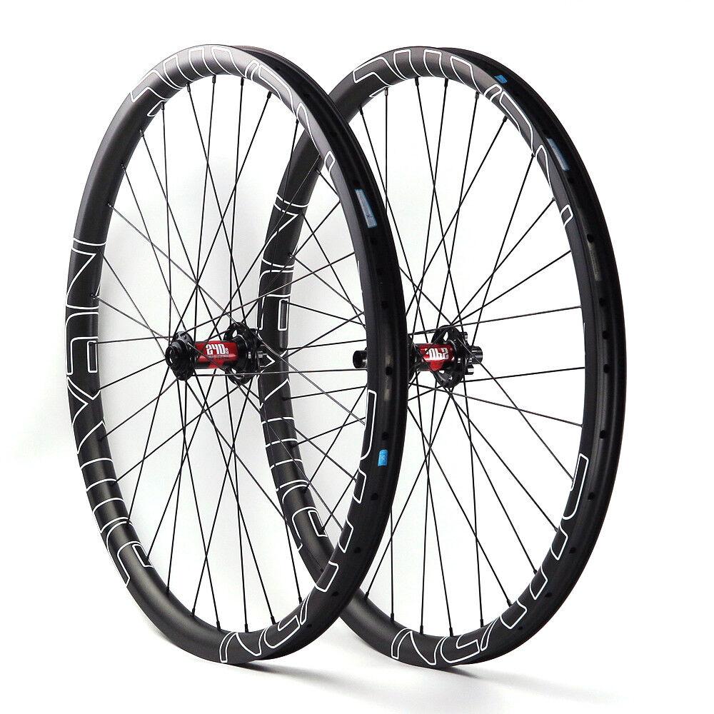 NEXTIE Carbon Complete MTB Wheelset w  DT240 hubs 6-Bolt 32Holes Front+Rear