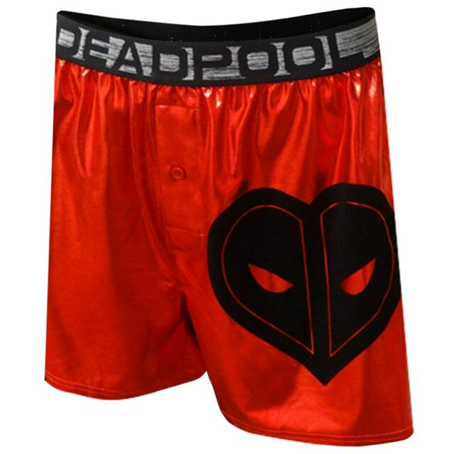 Marvel Comics Deadpool Mens Metallic Red Valentine S Day Boxer