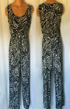 22a4e5e566dd item 5 CALVIN KLEIN BLACK WHITE PRINT ZEBRA SLEEVELESS JUMSUIT SIZE 8 NEW  WITH TAG -CALVIN KLEIN BLACK WHITE PRINT ZEBRA SLEEVELESS JUMSUIT SIZE 8  NEW WITH ...