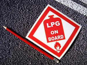 LPG GAS WARNING Sticker / Decal 11cm Caravan Motorhome Work Van Health & Safety