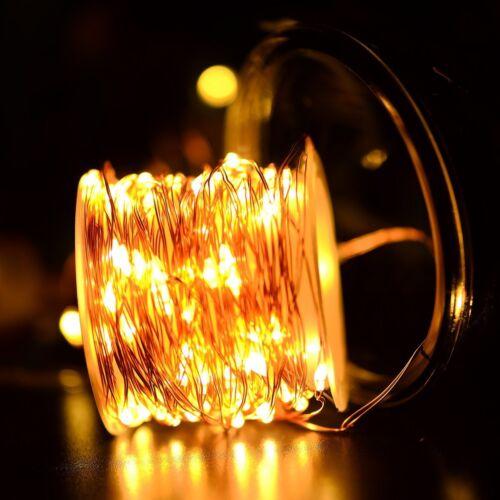 MSC 100 LED USB Powered 10M 8 Function Warm White Coloured String Fairy Light