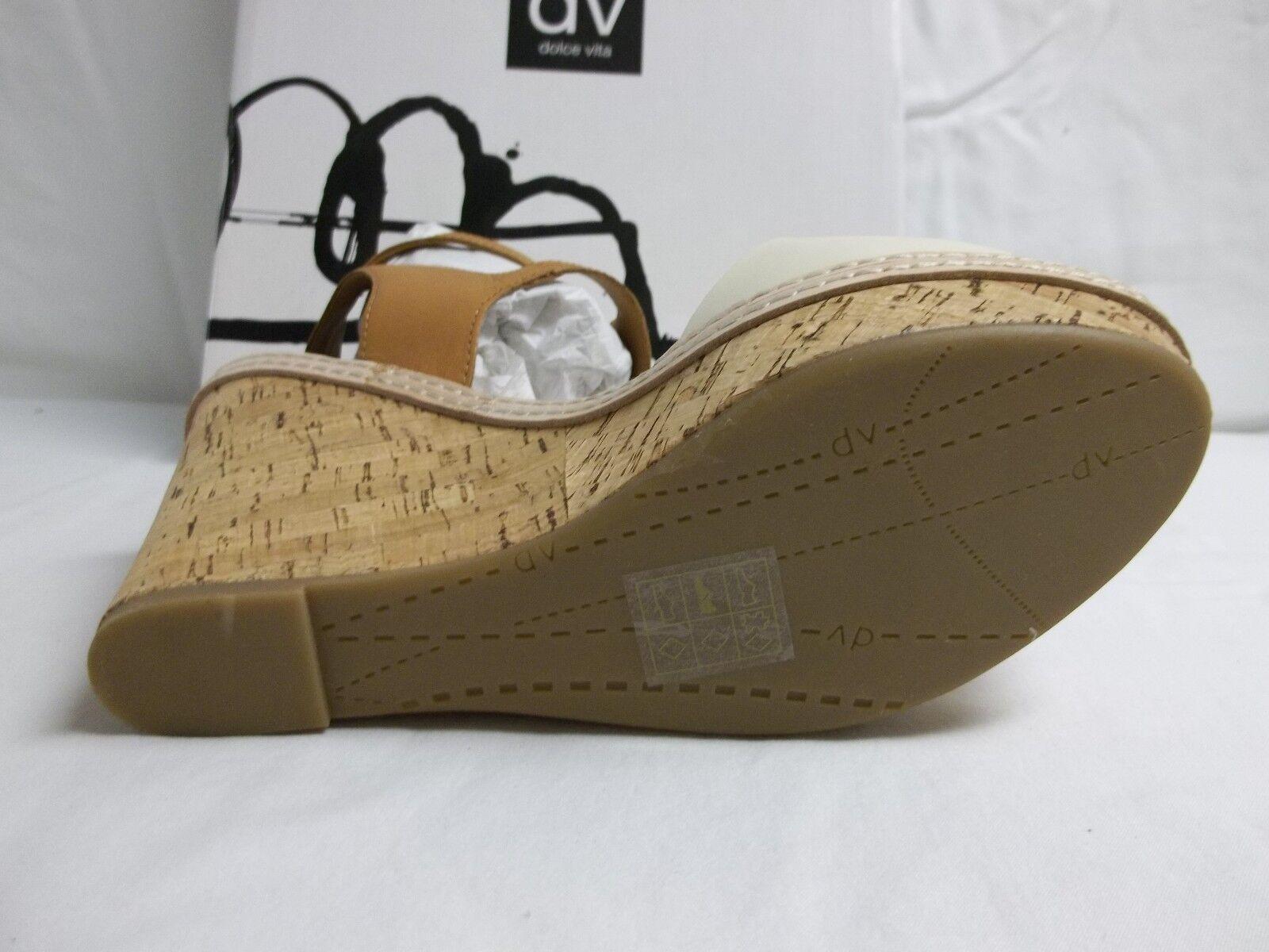 Dolce Vita Größe 10 M Jesper Bone Leder Damenschuhe Open Toe Wedges New Damenschuhe Leder Schuhes 0c992a