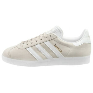 Details about Adidas Gazelle Mens BB5475 Chalk Off White Gold Pigskin Leather Shoes Size 7.5