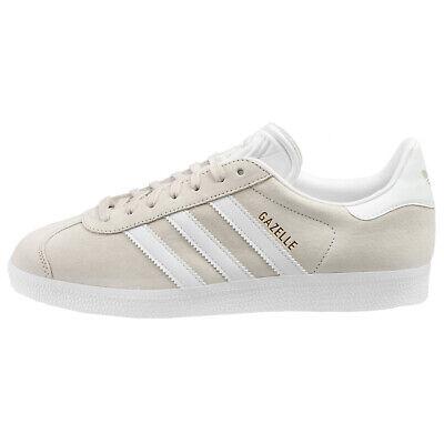 Adidas Gazelle Mens BB5475 Chalk Off White Gold Pigskin Leather Shoes Size 7.5 | eBay
