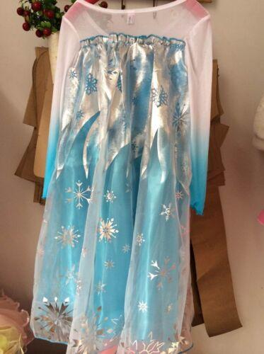 gratuit couronne et baguette Frozen Princesse Elsa Robe Cosplay Party Dress up