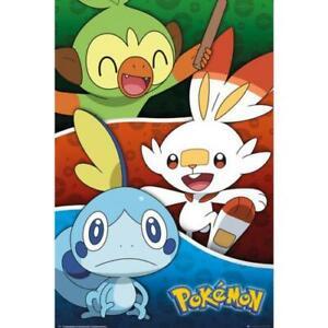 Pokemon-Poster-Galar-Starters-253-Official-Merchandise