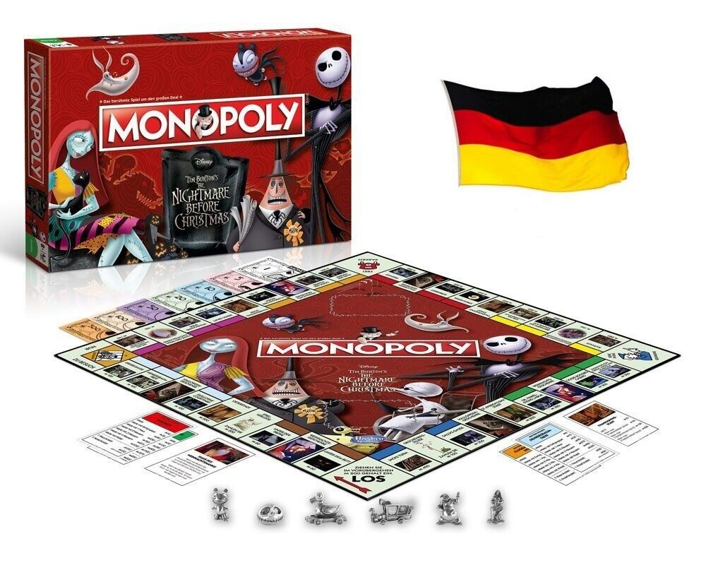 Hasbro - le Gagnant Se Déplace - Monopoly Nightmare Before Christmas - Allemand
