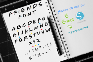 Details about Friends Font, Friends TV Show Font svg, Friends svg, Friends  Alphabet, Font svg