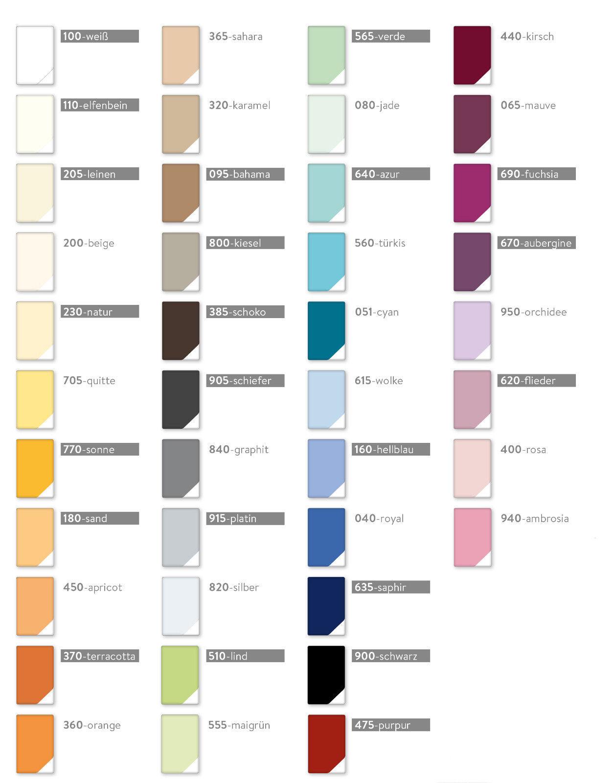 Estella Zwirn Jersey Spannbetttuch, Spannbettlak in allen Größen & vielen Farben