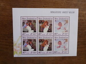 NEW-ZEALAND-HEALTH-STAMPS-1989-FERGIE-amp-ANDREW-6-STAMP-MINI-SHEET-MNH