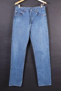 Vintage-LEVI-039-S-501-Button-Fly-Blue-Denim-Jeans-USA-Mens-Size-32x36