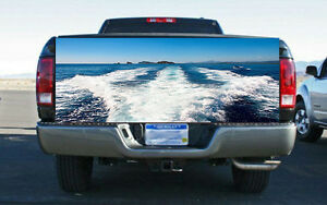 Image Is Loading Boat Wake Wave Truck Tailgate Wrap Vinyl