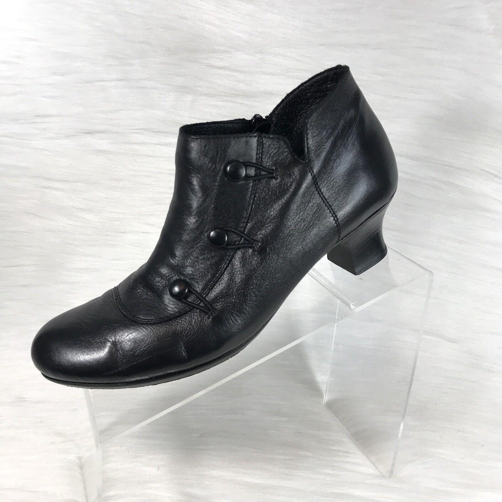 Risker anti estrés Tobillo botas Talla 40 EE. EE. EE. UU. 8.5-9 Cuero Negro Cremallera Lateral  tienda en linea