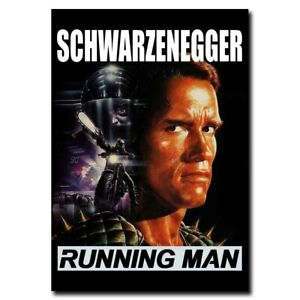 The Running Man 12x17 24x34inch Classic Movie Silk Poster Wall Room Decals