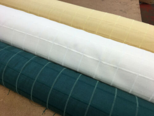 3 Cols 100/% Thick Cotton CHECK Curtain Fabric for Upholstery Blinds Curtains