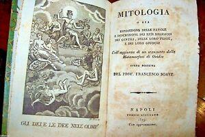 MITOLOGIA-antico-libro-SOAVE-1819-AEROLOGIA-e-VENTILATORE-1794-old-book-NAPOLI