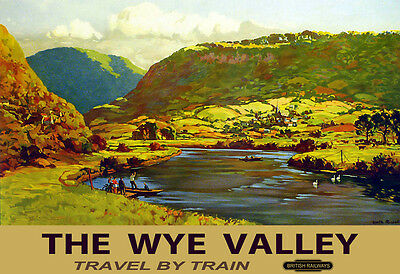 The Wye Valley Autumn Travel By Train British Railways Rail Travel  Poster Print