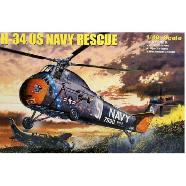 Trumpeter 1/48 64102 H-34 US Navy Rescue Model Kit