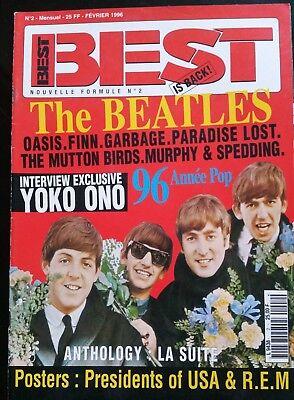 Best N°2 Du 2/1996; The Beatles/ Interview Yoko Ono/ Oasis/ Garbage/ Paradise L Weelderig In Ontwerp
