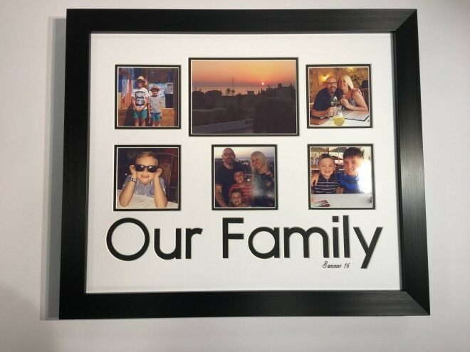 OUR FAMILY  Personalised Photo Frame -Holds 1 x7 x5  and 5 x 4''X4''