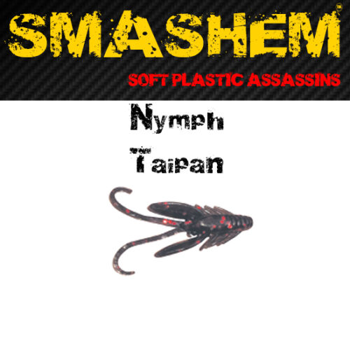 Taipan /& Wolf 10pk /'Nymph/' Lures Aussie Seller Genuine Smashem Soft Plastics