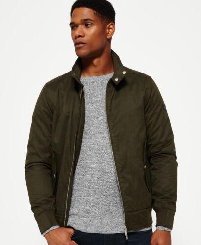 New Mens Superdry Nordic Harrington Jacket Khaki