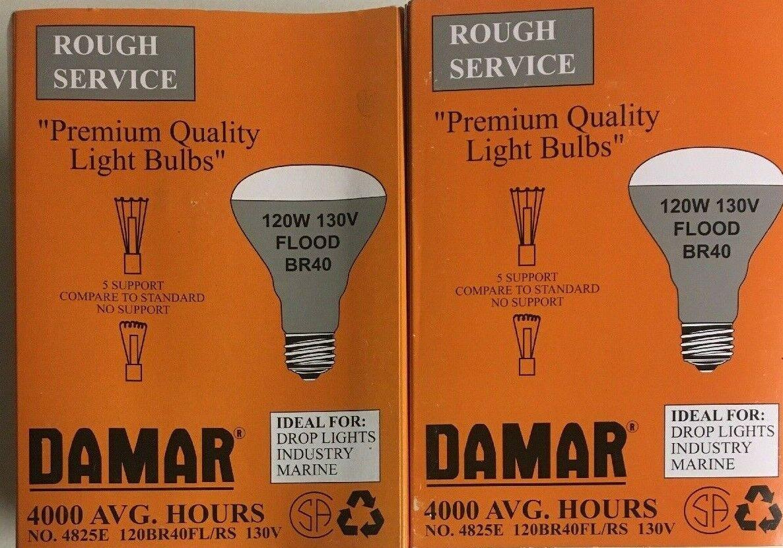 DAMAR 04825E 120BR40FL//RS 120W 130V FROSTED INCANDESCENT FLOOD LIGHT BULB