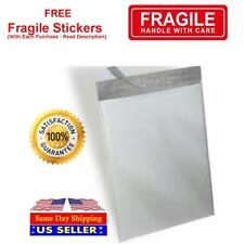 White Poly Mailer Self Seal Shipping Bags Plastic Mailing Free Fragile Sticker