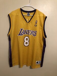 Details about Vintage Kobe Bryant #8 90's Rookie Authentic Champion Lakers Jersey 48 XL