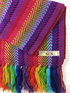 Multicolor Rainbow Alpaca Scarf