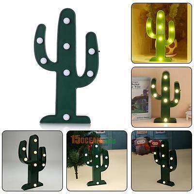 Cactus 3D LED Night Light Romantic Home Christmas Wedding Party Decor Table Lamp