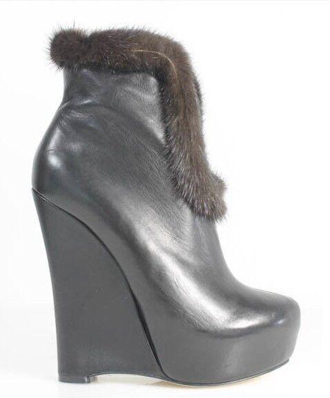 Para mujer diseñador Alejandro Ingelmo Ingelmo Ingelmo 'Anya' Crosby Negro Cuña botín bota talla 8  marcas de diseñadores baratos