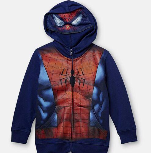 Ultimate Spiderman Zip-Up Hoodie Childs Size 5-6 7 New Sweatshirt Jacket Marvel