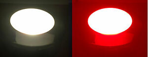 MARINE STAINLESS STEEL LED CEILING WARM WHITE & RED LIGHT HIGH POWER DIMMABLE