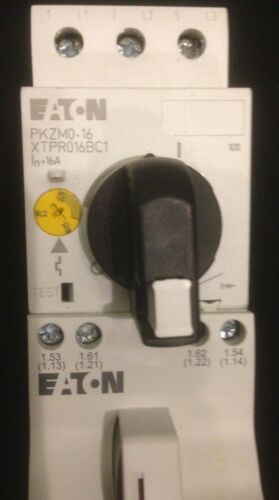 EATON XTPR016BC1 STARTER XTCE007B10 CONTACTOR OXM12DM XTPAXFA11 AUX CONTACT