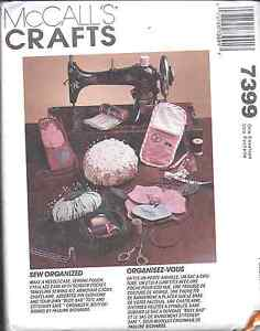 7399-UNCUT-Vintage-McCalls-Pattern-Sewing-Accessories-Pin-cushion-case-OOP-SEW