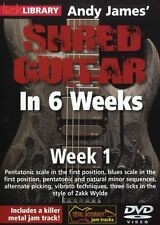 Lick Library Andy James Shred Guitar en 6 semanas aprender a jugar Zakk Wylde Dvd 1