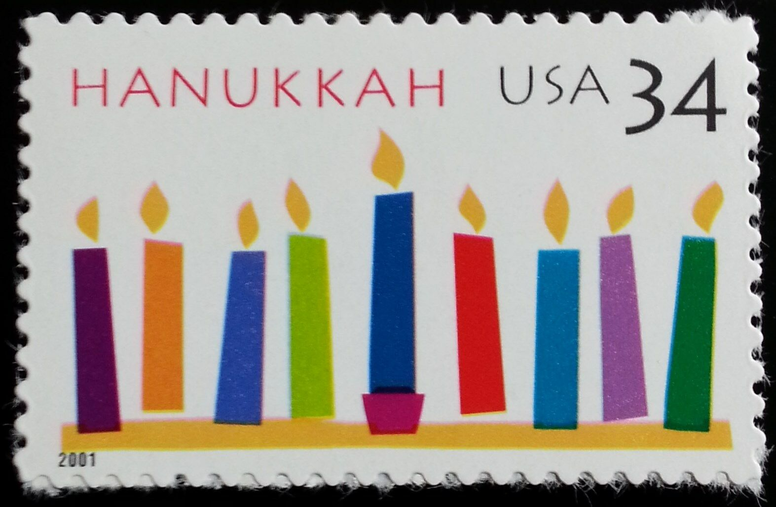 2001 34c Hanukkah, Festival of Lights Scott 3547 Mint F