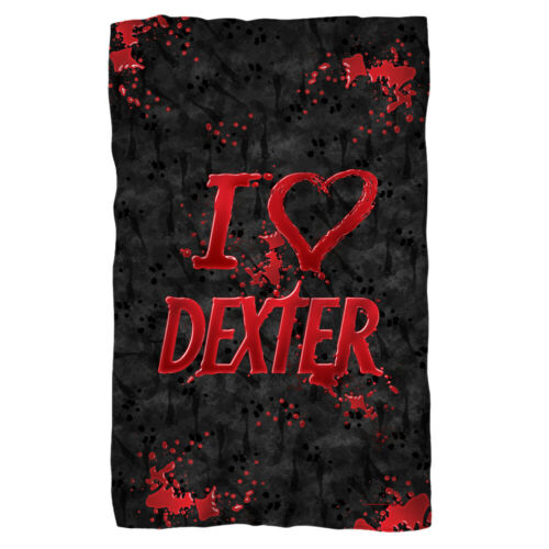 "Dexter /""I Heart Dexter/"" Dye Sublimation Fleece Blanket 36 x 58"