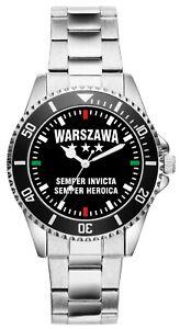 WARSZAWA-Semper-Invicta-Geschenk-Fan-Artikel-Zubehor-Fanartikel-Uhr-2650