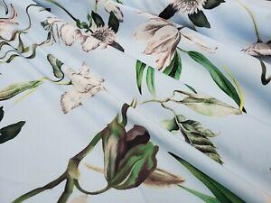 dress fabric per metre Polyester Georgette 100/% /'Midnight Polka/',