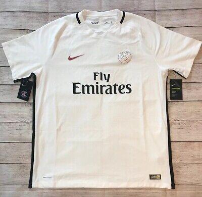wholesale dealer 9c10b a6ed6 Nike Paris Saint-Germain PSG Aeroswift Vapor Match Third Jersey 16/17 XXL  White | eBay