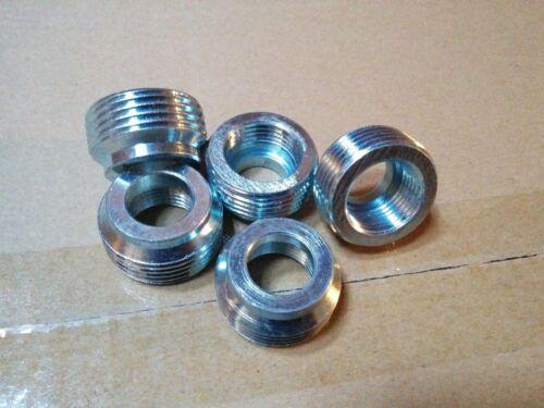 "100 pc Steel Reducing Bushings 3//4/"" x 1//2/""  Electrical Pipe Conduit Fitting"