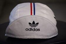 vtg Adidas white cycling hat Tour de France
