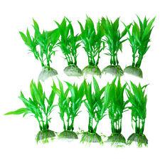 10× Grün künstliche Aquarium Pflanzen Wasserpflanzen Aquariumpflanzen Dekor
