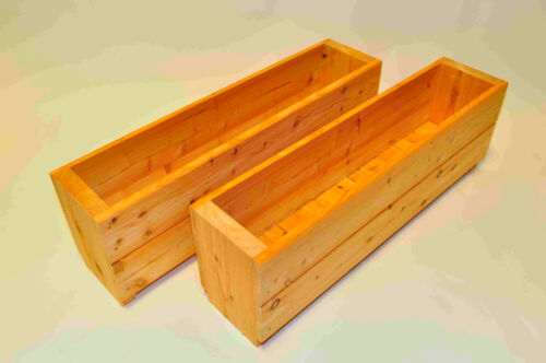 Wooden Troughs Garden Planters x2  Quality handcrafted planters
