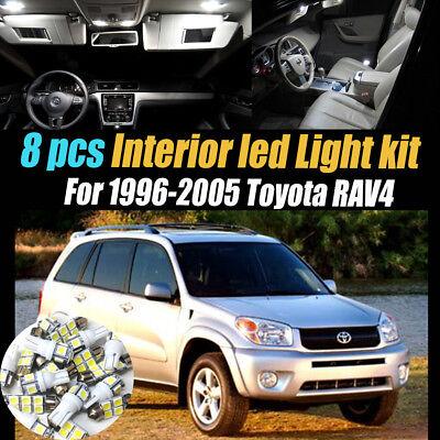 18Pc Super White Interior LED Light Bulb Kit Package for 14-17 Toyota Highlander